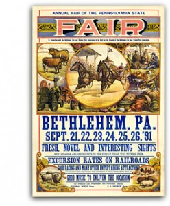 Pennsylvania state fair bethlehem vintage sign