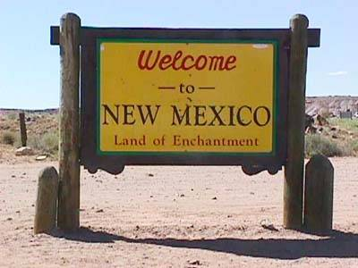 New Mexico Welcome sign