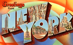 New York festival and events postcard