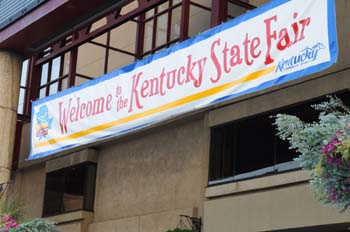 State Fair of Kentucky festivals welcome sign 2014