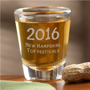 New Hampshire august 2016 award shot glass best festival event