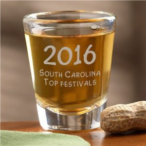 2016 South Carolina August image SC award shot glass