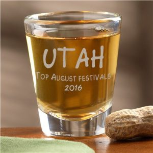 2016 August Utah festival shot glass