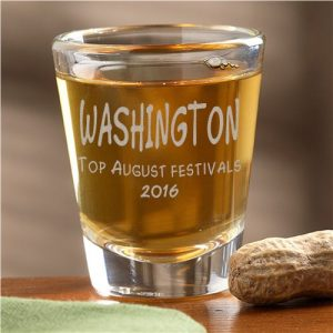 Washington shot glass for August events