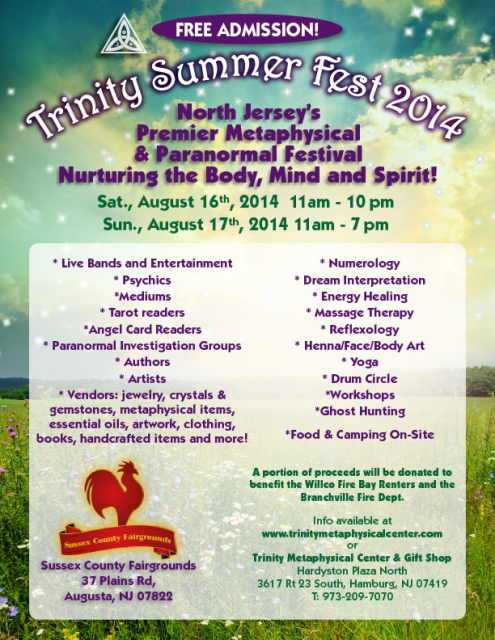 Trinity Metaphysical Summer fest in New Jersey